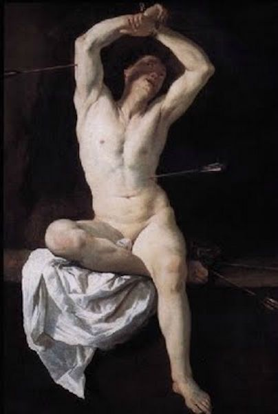 Aniello Falcone (1600 or 1607-1665)   St Sebastian   1660   Accademia Galli…