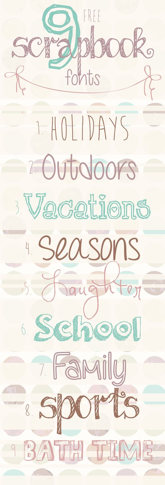 Designs By Miss Mandee: 9 Free Scrapbook Fonts