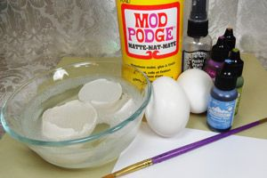 Splitcoaststampers - Tutorials  Egg shell mosaic backround