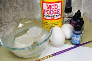 Splitcoaststampers - Tutorials  Egg shell mosaic backround