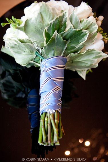 Something borrowed and/or something blue: Dad or Grandpa's tie to wrap the bouquet.