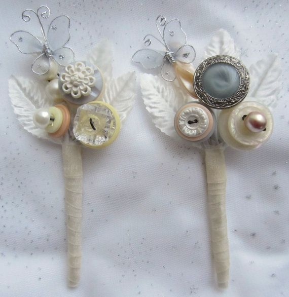 Vintage Button Wedding Corsage  Mother of Bride by iheartbuttonsuk, £20.00
