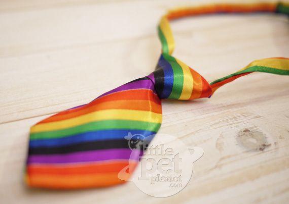 Rainbow Gay Pride Dog Tie