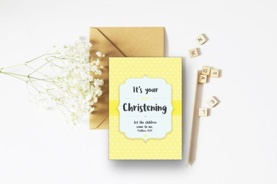 Baby Christening A6 Card - Christening Gift - Christian Cards - Faith Cards - Baby Girl - Baby Boy