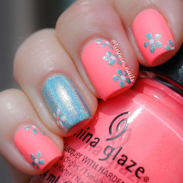 Perfect summer nails with China Glaze Flip Flop Fantasy