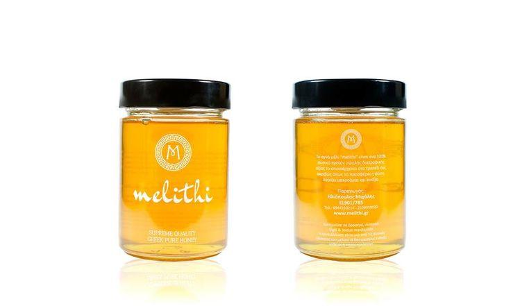 Σχεδιασμός λογοτύπου & συσκευασίας μελιού melithi