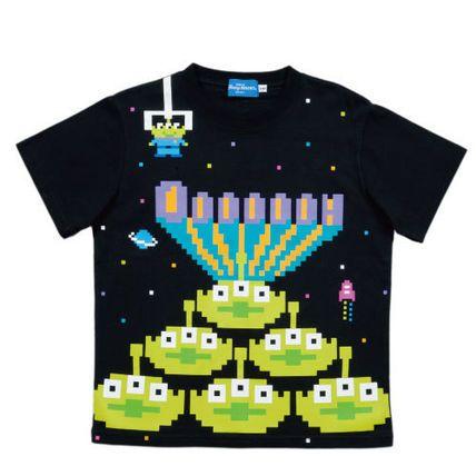TDR Tシャツ レトロ デジタル リトルグリーンメン S〜LL
