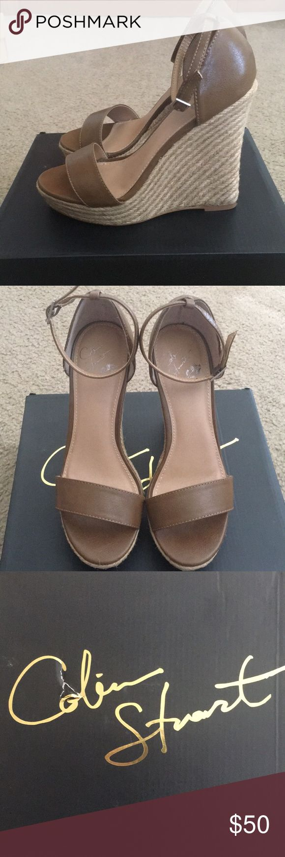 Colin Stuart Wedge Heel Colin Stuart chestnut brown wedge heel. Brand new worn around the house to see if I was going to keep them. Perfect for spring and summer right around the corner!! 🌸 Colin Stuart Shoes Wedges