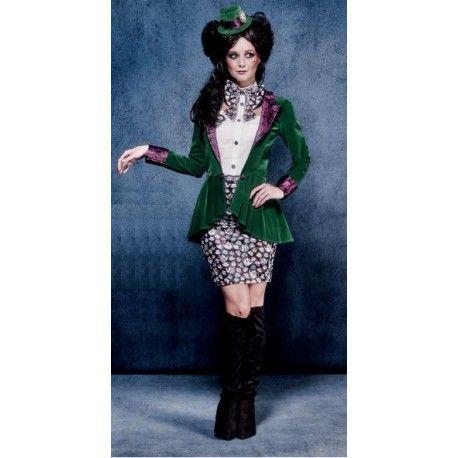 Disfraz de Sombrerera Excéntrica Loca, Alicia a través del espejo, Alicia en el país de las maravillas #Costume Mujer
