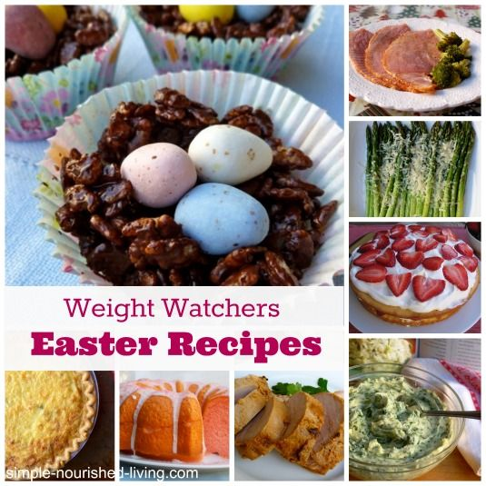 Weight Watchers Easter Recipes for Breakfast, Brunch, Dinner and Dessert, all with nutritional information and Points Plus. Perfect for planning a Weight Watchers Friendly Easter! http://simple-nourished-living.com/2014/04/weight-watchers-easter-recipes/