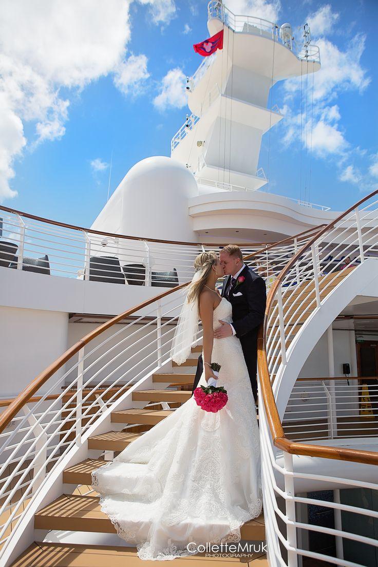 Disney Weddings on the Disney cruise line, disney dream. Wedding photography. Cruise lines. Collette Mruk Photography. Wedding poses.