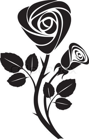 Vector of 'sketch black rose art colorful vector illustration'