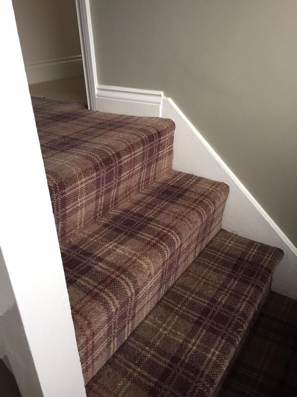Our very new Braeburn range in Tayberry colour way fitted by Pauls Floors in Manchester. love love love this tartan on stairs. http://ulstercarpets.com/residential/choosing-your-carpet/search-by-range/braeburn#range-braeburn
