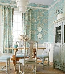 Pretty light aqua dining room