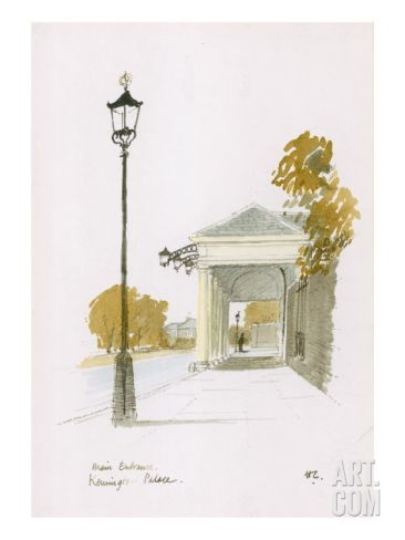 Main Entrance, Kensington Palace Giclee Print at Art.com 0 Hugh Casson