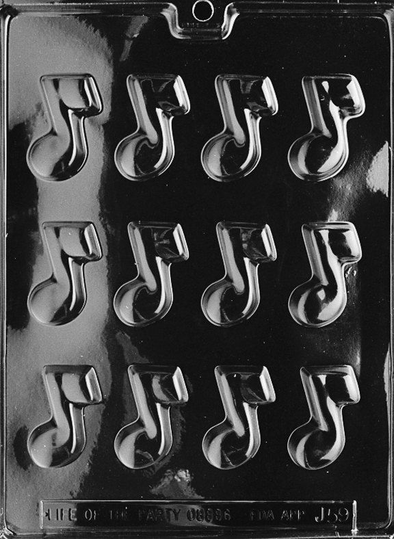 FlavorTools.com Musical Note Chocolate Candy Mold