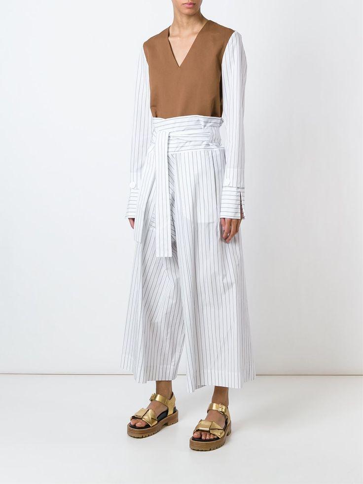 Marni полосатые свободные брюки