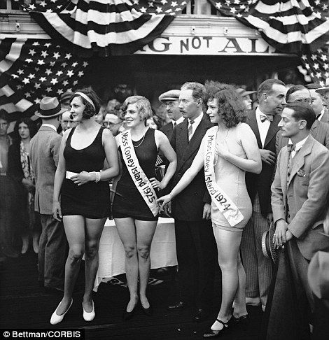 three contestants, including Miss Coney Island winners from 1924 and 1925, look like naturals