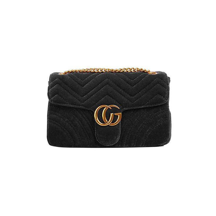 MANDY CG Logo Quilted Cross Shoulder Bag - Leather And Chain Strap@ shopjessicabuurman.com