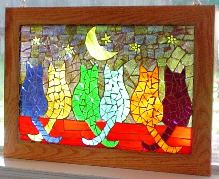 this would go great in my house - colorful and has cats on it!