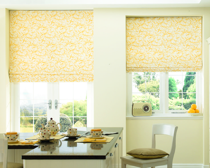 Warm Tones And Colour Look Fabulous In The Dining Room Romanblinds Yellowblinds