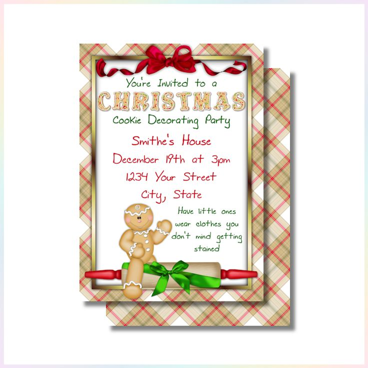 75 best images about Christmas Party Invitations or Greeting Cards – Cookie Decorating Party Invitations