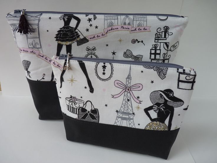 Duo pochette et trousse Moi Paris https://www.etsy.com/shop/veromodart