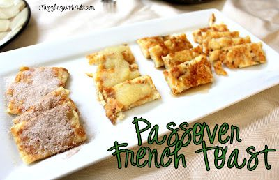 "Make Passover ""french toast"" using matzah. We read a wonderful book..."