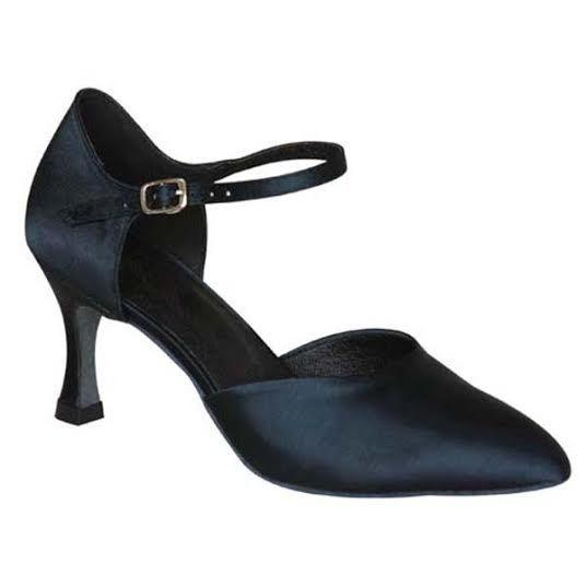 Zapatos de bailes de seda sintética zapatos de salsa kqp901Cm4