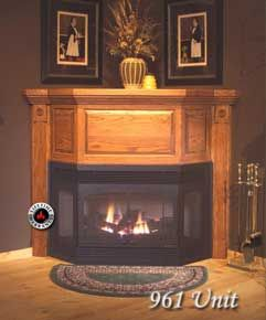 Corner Fireplace - Direct Vent