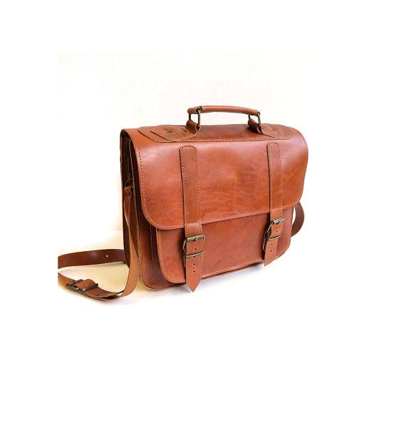 A handmade, high quality genuine cowhide leather bag youll have for years and years to come.  A roomy briefcase which will fit 13 inches laptop along