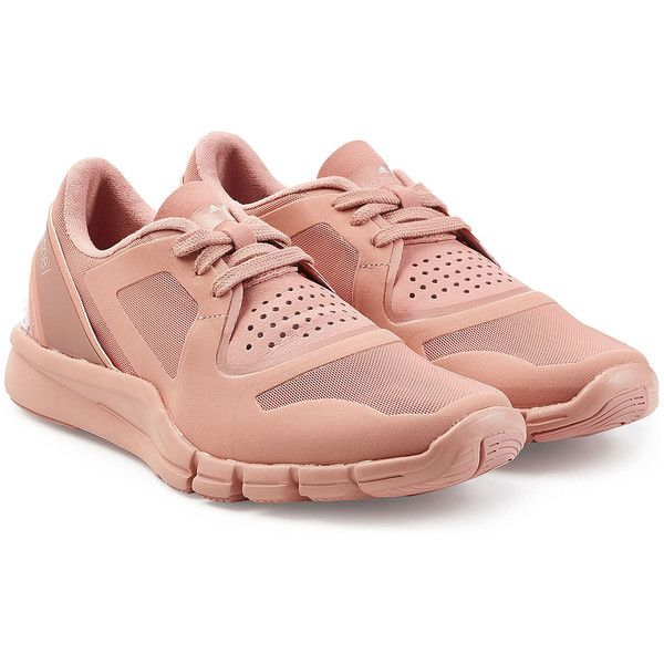 Adidas by Stella McCartney Alayta Sneakers (150 CAD) ❤ liked on Polyvore featuring shoes, sneakers, pink, lace up sneakers, adidas shoes, adidas, pink shoes and round toe sneakers