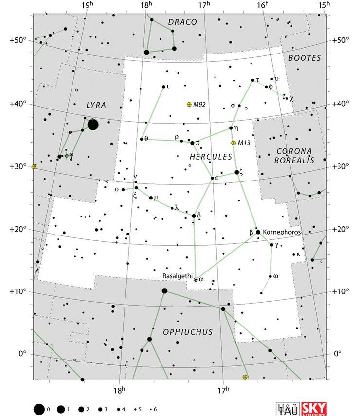 hercules constellation,hercules star map,hercules location