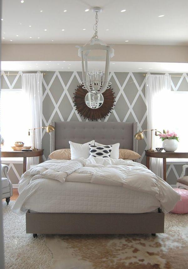 Tapeten Schlafzimmer Gestalten #16: Einrichtungsideen Schlafzimmer - Gestalten Sie Einen Gemütlichen Raum