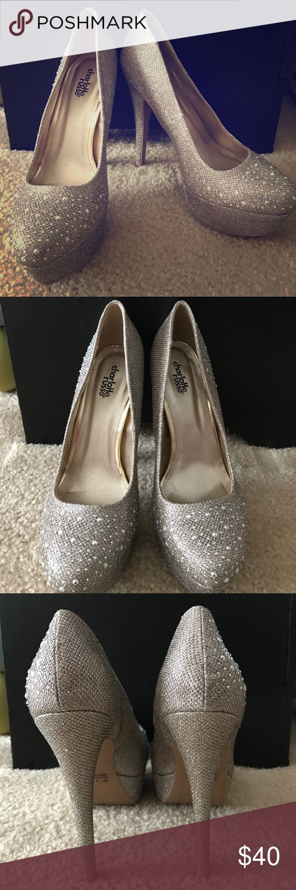Brand New Gold Sparkle heels Brand New Gold Sparkle heels. Charlotte Russe Shoes