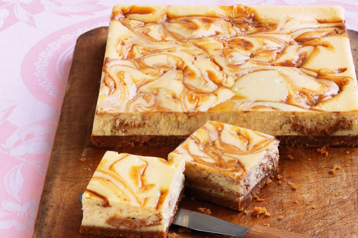 Decadent ribbons of coconut-infused caramel swirled through a classic cheesecake make for a simply stunning, not to mention absolutely delicious, dessert.