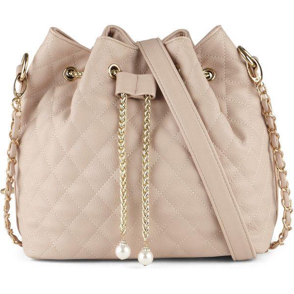 ALDO Veloveronese ($40) ❤ liked on Polyvore featuring bags, handbags, light pink, chain purse, aldo, quilted chain handbags, light pink purse and pink handbags