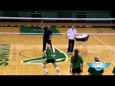 This is a great quick drill to emphasize hustle and get your team psyched up in the middle of practice.