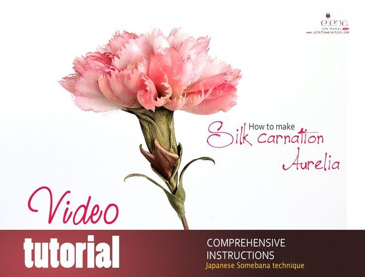 Complete video tutorial silk carnation Aurelia ❤ https://www.youtube.com/watch?v=_FZ8CYNR-K4