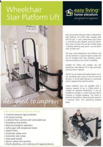 Wheelchair stair platform lift brochure