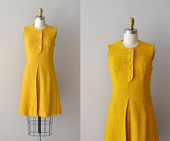1960s Mad about Saffron dress #1960s #mod #mustard #vintagedress