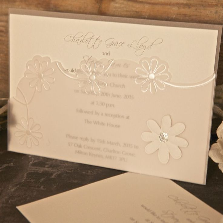 mini book wedding invitations uk%0A Sweet Daisies Day Invitation  A wide range of invitations and matching  stationery items available online
