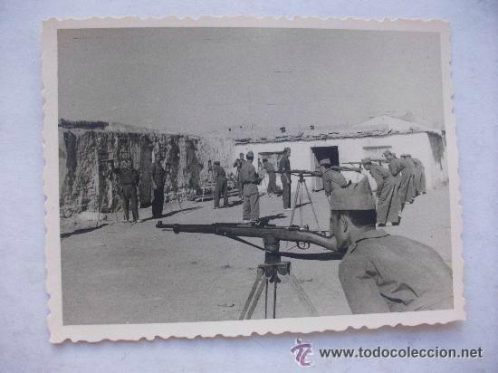 dar drius o drar druch PROTECTORADO ESPAÑOL DE MARRUECOS : PRACTICAS DE TIRO . DRUCH, 1955.... 7 x 9 cm - Foto 1