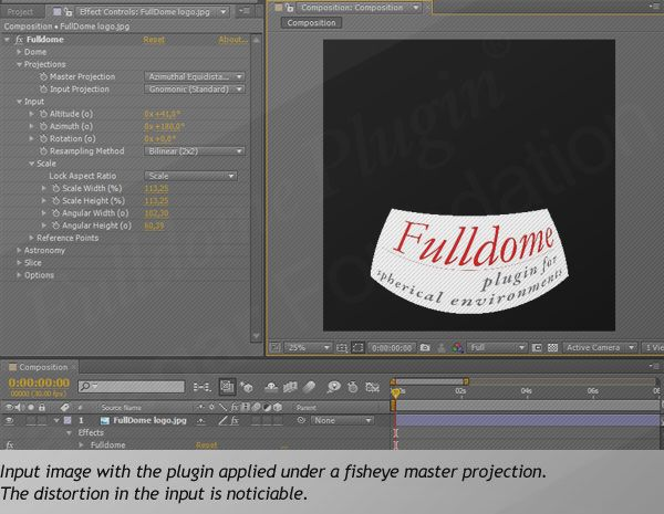 Fulldome Plugin for Adobe After Effects
