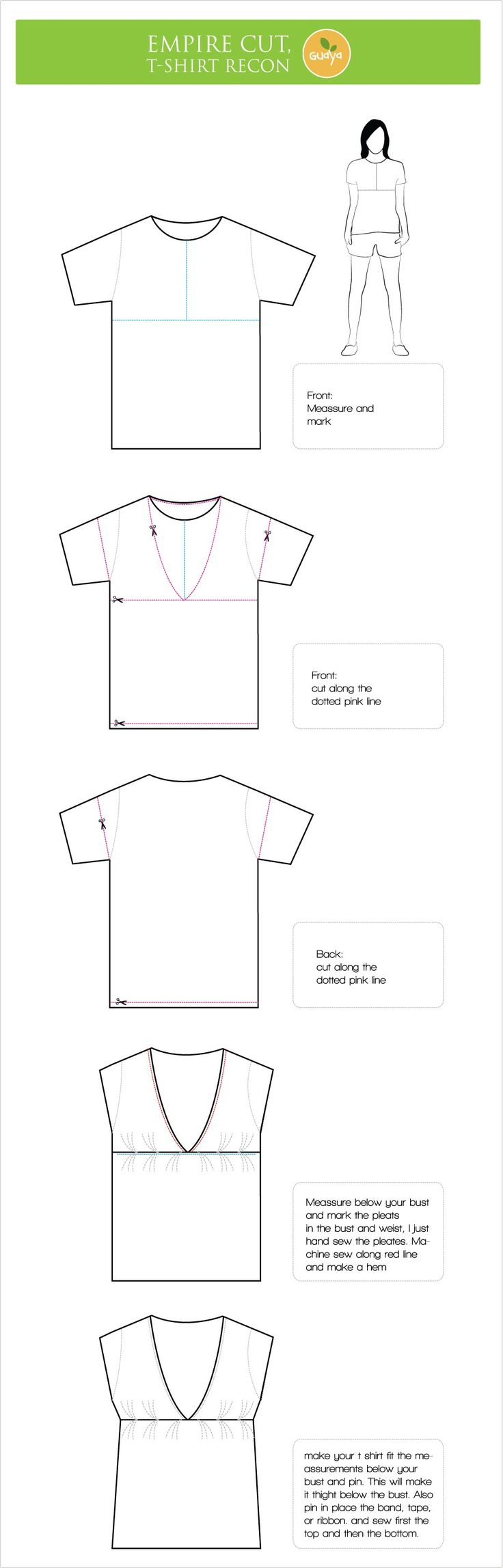 I've been fascinated with all the T shirt reconstruction I've seen around, so yesterday, I was bored and decided to make my own reconstruction.. I had a big t shirt (it was my mom&#8217…