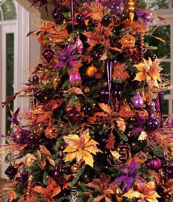 Christmas Decorations With Orange: 1099 Best Images About Christmas Trees On Pinterest