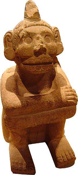 Estatuilla sedente de Mictlantecuhtli, en el Museo Británico de Londres.