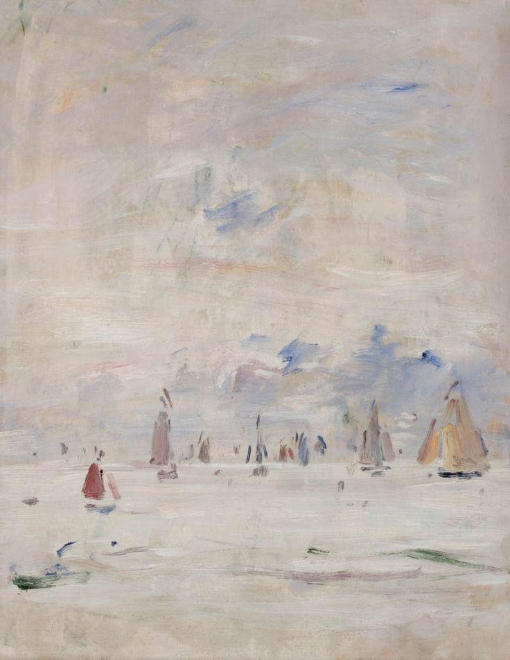 Eugène BOUDIN (1824-1898), Voiliers sur la mer, 1890-1897, huile sur bois, 27 x 21,1 cm. © MuMa Le Havre / Florian Kleinefenn