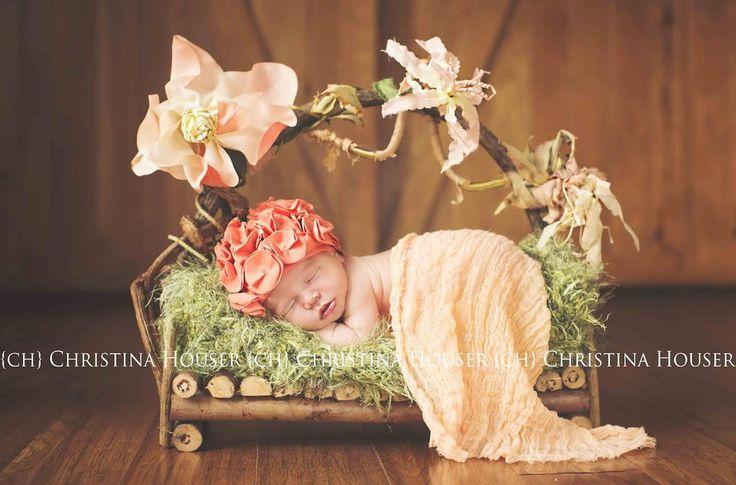 Peach Cheesecloth Newborn Baby Wrap Cheese Cloth | Beautiful Photo Props