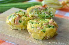 Frittatine al forno con zucchine e mortadella ricetta facile economica, semplice e gustosa, ricetta antipasto, aperitivo,finger food, ottime per un pic nic